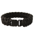 PULSERA PARACORD 22mm NEGRO