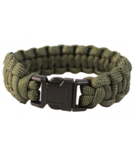 PULSERA PARACORD 22mm VERDE