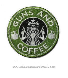 PARCHE GUNS AND COFFEE G003-038-GREEN