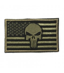 PARCHE PUNISHER BANDERA USA VERDE G003-056-GREEN