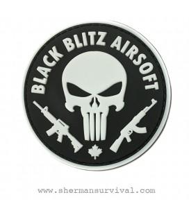 PARCHE PVC PUNISHER BLACK BLITZ G002-040-WHITE