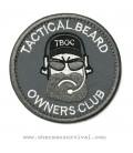PARCHE TACTICAL BEARD GRIS G003-061-D