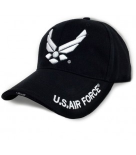 GORRA BASEBALL AIR FORCE NEGRO