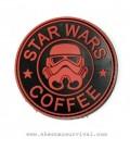 PARCHE PVC STAR WARS COFFEE ROJO G002-043-RED