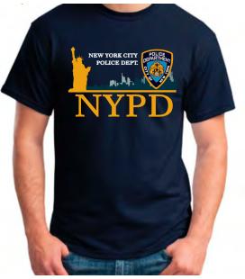 CAMISETA NYPD ESTATUA LIBERTAD