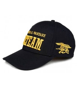 GORRA BASEBALL SEAL TEAM NEGRA