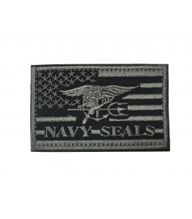 PARCHE BANDERA USA NAVY SEALS GREY G003-070-GREY