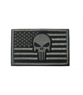PARCHE PUNISHER BANDERA USA GREY G003-056-GREY