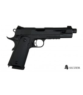 PISTOLA SECUTOR GAS CO2 RUDIS NEGRO
