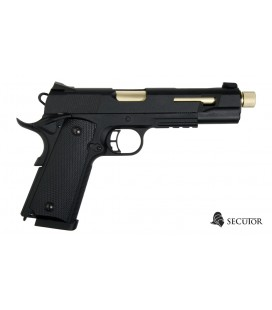 PISTOLA SECUTOR GAS CO2 RUDIS ORO