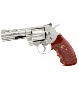 "UMAREX COLT PYTHON METAL 4"" NICKEL 4,5mm CO2"