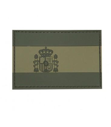 PARCHE PVC BANDERA ESPAÑOLA 75X50mm VERDE