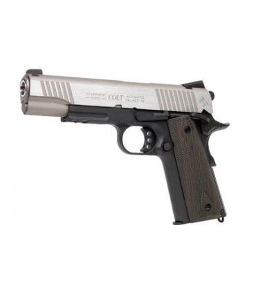 CYBERGUN COLT 1911 RAIL FULL METAL CO2 STAINLESS DUAL