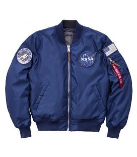 CAZADORA ALPHA IND. MA-1 VF NASA RP AZUL