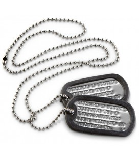 DOG TAG US ARMY PLATEADAS