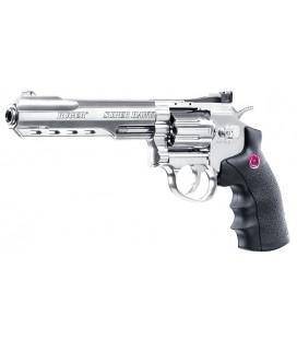 """SUPERHAWK 6"""" SILVER UMAREX C02 6mmBB"""
