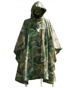 PONCHO RIPSTOP WOODLAND MILT