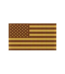 BANDERA USA DESERT PLASTICO/VELCRO