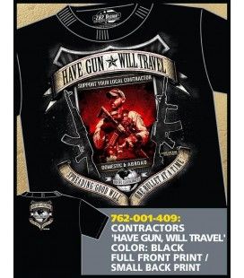 CAMISETA 7,62 HAVE GUN, WILL TRAVEL