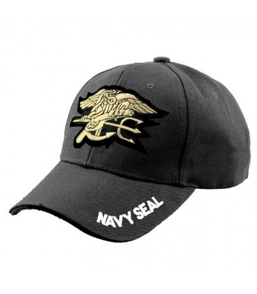 GORRA BASEBAL NAVY SEAL NEGRA