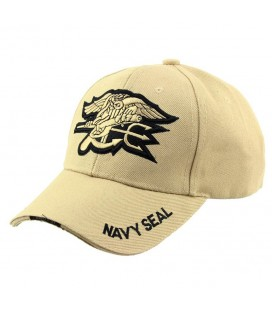 GORRA BASEBAL NAVY SEAL TAN