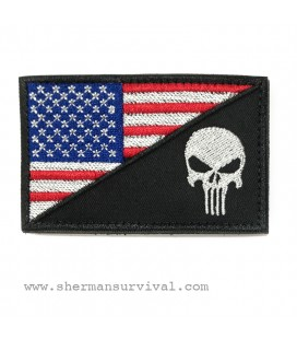 PARCHE BANDERA USA PUNISHER G003-006-07