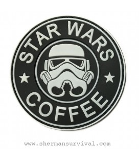 PARCHE PVC STAR WARS COFFEE BLANCO G-002-043-WHITE