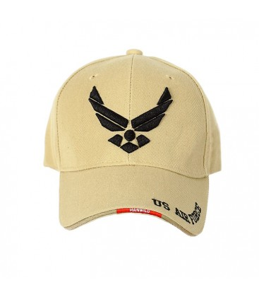 GORRA BASEBALL AIR FORCE TAN