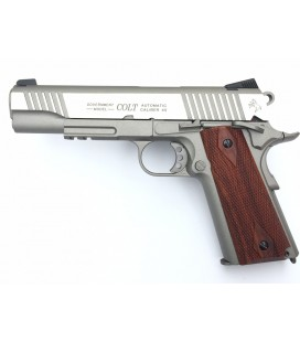 CYBERGUN COLT 1911 RAIL FULL METAL CROMADO CO2 AIRSOFT