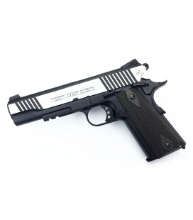 CYBERGUN COLT 1911 RAIL FULL METAL CO2 CROMADA