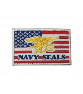 PARCHE BANDERA USA NAVY SEALS RED G003-070-RED