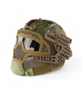 CASCO PJ CON MASCARA MULTICAM
