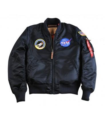 CAZADORA ALPHA IND. MA-1 VF NASA AZUL