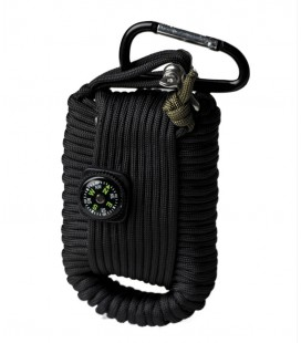 PARACORD SURVIVAL KIT LG NEGRO