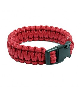 PULSERA PARACORD 22MM ROJA