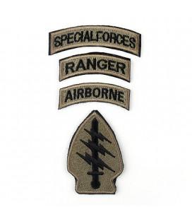 PARCHE SPECIAL FORCES / AIRBORNE / RANGER VERDE