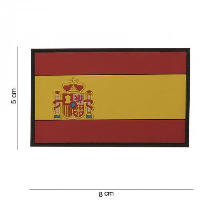 PARCHE PVC 3D BANDERA ESPAÑA 8x5cm