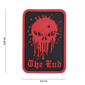 PARCHE PVC SKULL THE END ROJO