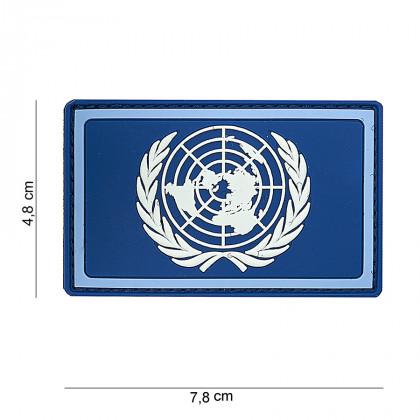 PARCHE PVC AZUL ONU