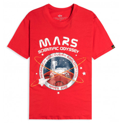 CAMISETA ALPHA IND. MISSION TO MARS ROJA