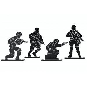 DIANAS METALICAS SOLDIER 4 uds