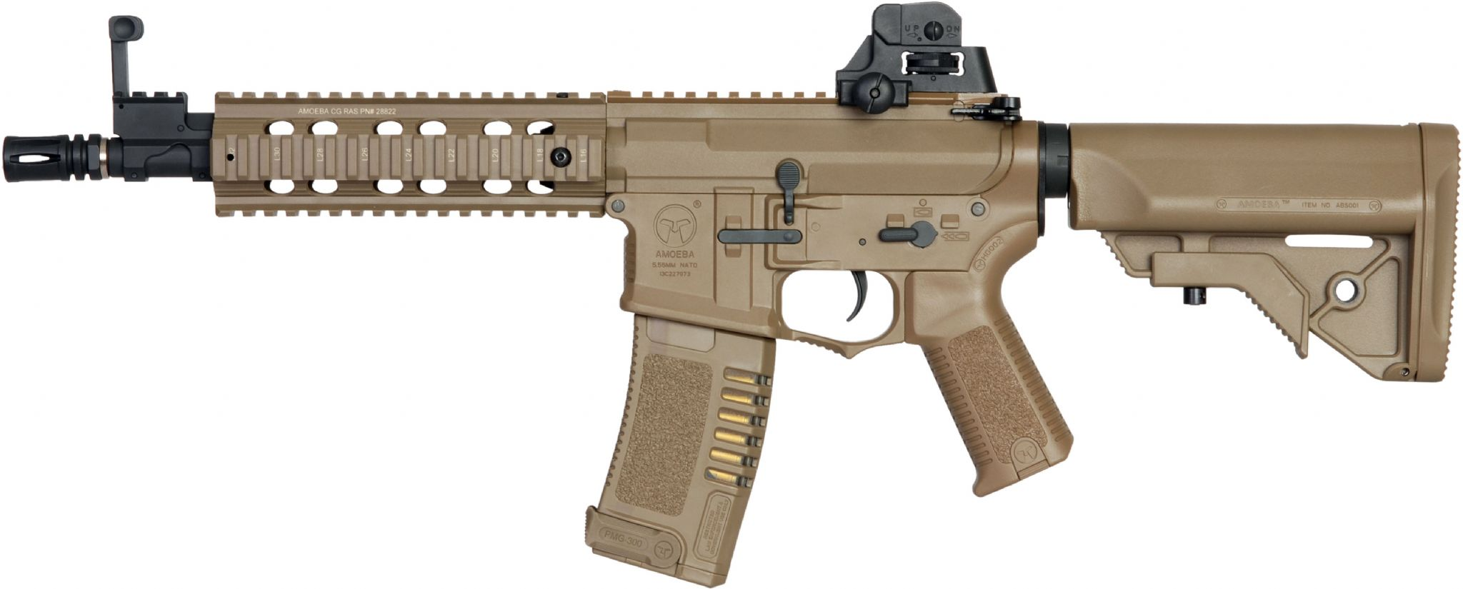 Fusil ARES AMOEBA AM-008 Color DESERT AIRSOFT